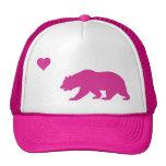 Gorra rosado del camionero del amor de California