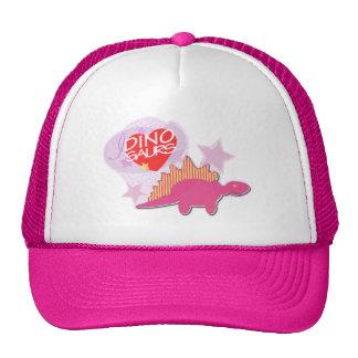 Gorra rosado del casquillo de los dinosaurios del