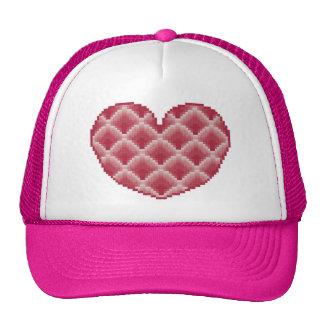 Gorra rosado del corazón