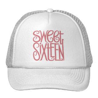 Gorra rosado del dulce dieciséis