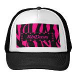Gorra rosado del estampado de animales