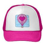 Gorra rosado del globo del aire caliente del coraz