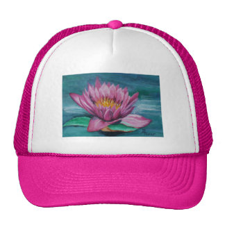 Gorra rosado del lirio de agua
