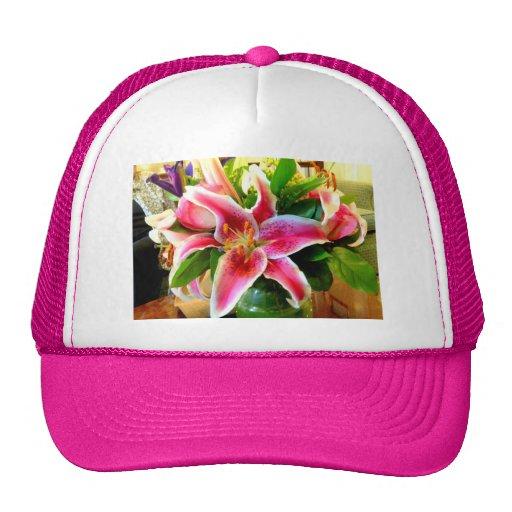 gorra rosado del lirio del stargazer