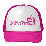 Gorra rosado del logotipo