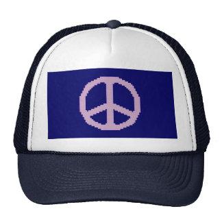 Gorra rosado del signo de la paz
