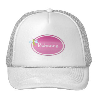 Gorra rosado personalizado de la libélula