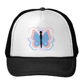 Gorra rosado y azul claro bonito de la mariposa
