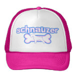 Gorra rosado y azul del Schnauzer
