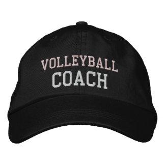 Gorra rosado y blanco del coche del voleibol del t gorra bordada
