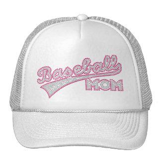 Gorra rosado y gris de la mamá del béisbol
