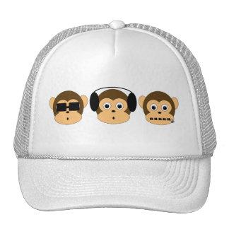 Gorra sabio de tres monos