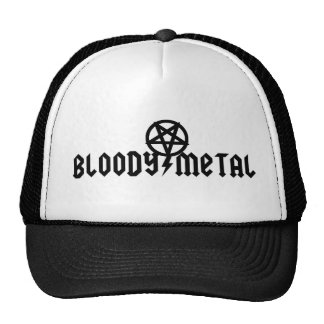 Gorra sangriento del metal