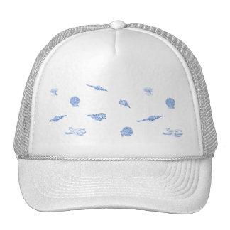 Gorra seashells y del modelo azules de las estrell