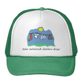 Gorra - secador de ropa accionado solar