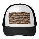 Gorra seco de la pared de piedra