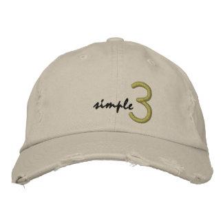 Gorra simple 3 gorra de béisbol bordada