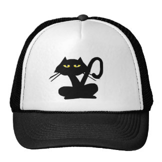 Gorra simple del gato negro