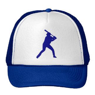 Gorra simple del jugador de béisbol azul del tema