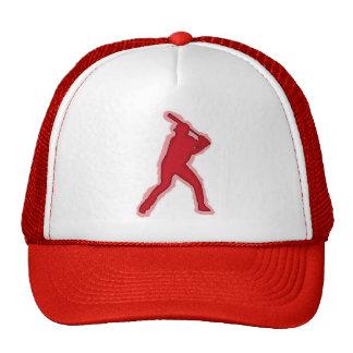 Gorra simple del jugador de béisbol rojo