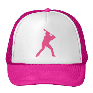 Gorra simple del jugador de béisbol rosado