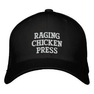 Gorra sobre el terreno de la prensa del pollo que gorra de béisbol bordada