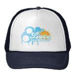 Gorra soleado del logotipo del verano del amor