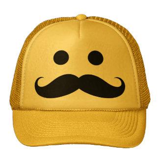 Gorra sonriente de la cara del bigote divertido