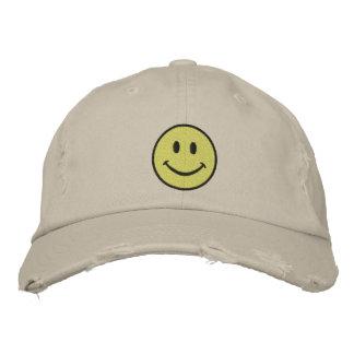 Gorra sonriente de la cara gorra bordada