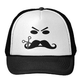 Gorra sonriente del bigote enojado - elija el colo