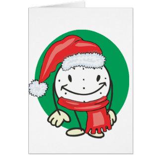 Gorra sonriente del navidad de santa de la pelota  tarjeta de felicitación
