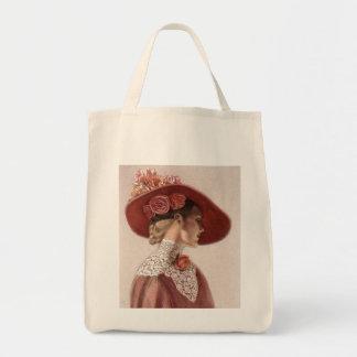 Gorra subió vintage elegante de la señora bella ar bolsas