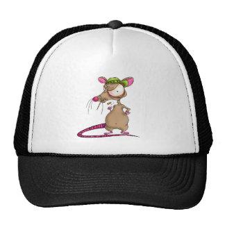 Gorra sucio de la rata