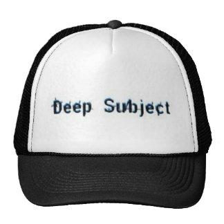 Gorra sujeto profundo del logotipo