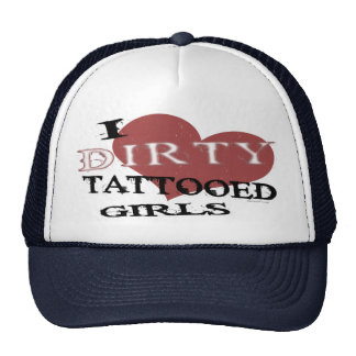 Gorra tatuado sucio de los chicas