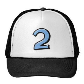 Gorra tonto del azul de los números 2