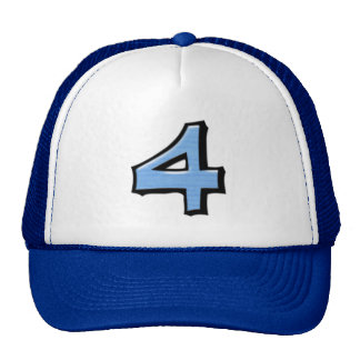 Gorra tonto del azul del número 4