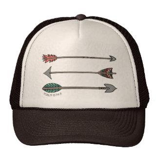 Gorra tribal de la flecha llena del salmo 127 del