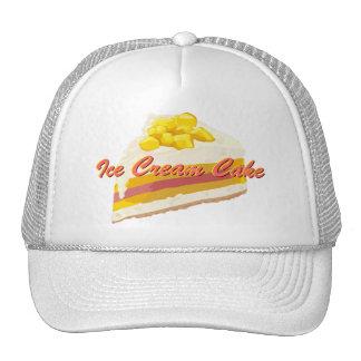 Gorra tropical de la torta del helado