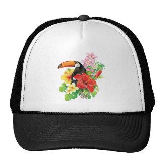 Gorra tropical del camionero del collage de Toucan