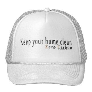 "Gorra Trucker blanca, ""Keep your home clean """