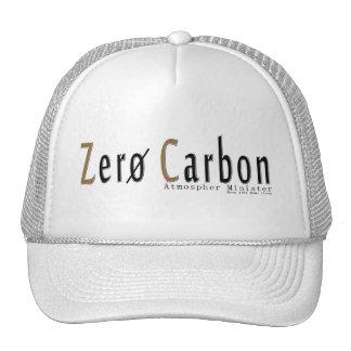 "Gorra Trucker blanca, logotipo ""Cero Carbon """