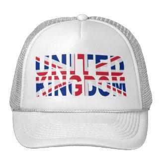 Gorra unido de la bandera de Kindom Union Jack (bl
