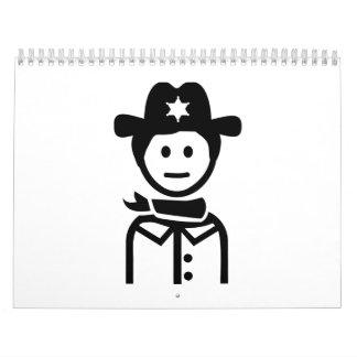 Gorra uniforme del sheriff calendarios de pared