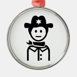 Gorra uniforme del sheriff adorno de reyes