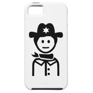 Gorra uniforme del sheriff iPhone 5 Case-Mate cárcasa