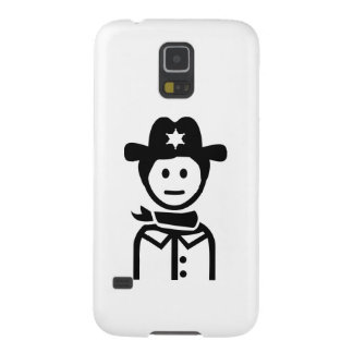 Gorra uniforme del sheriff carcasa de galaxy s5