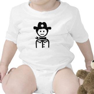 Gorra uniforme del sheriff trajes de bebé