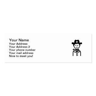 Gorra uniforme del sheriff tarjeta de visita