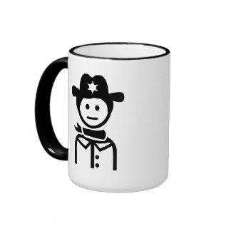 Gorra uniforme del sheriff tazas